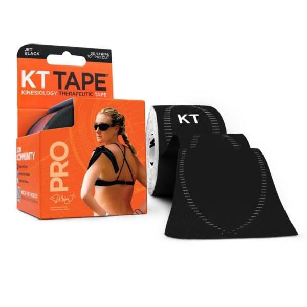 [해외]KT TAPE Pro Synthetic Precut Kinesiology 20 Units 6137341877 Jet Black