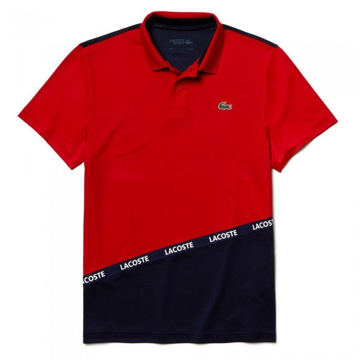 [해외]라코스테 Sport Signature Band Breathable Colorblock Pique Red / Navy