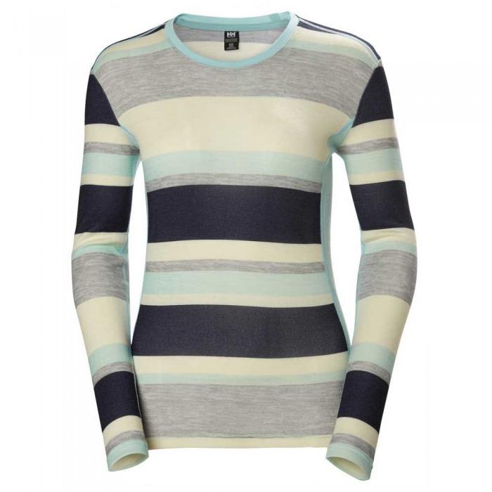 [해외]헬리한센 Merino Mid Graphic 137189067 Blue Tint Stripe