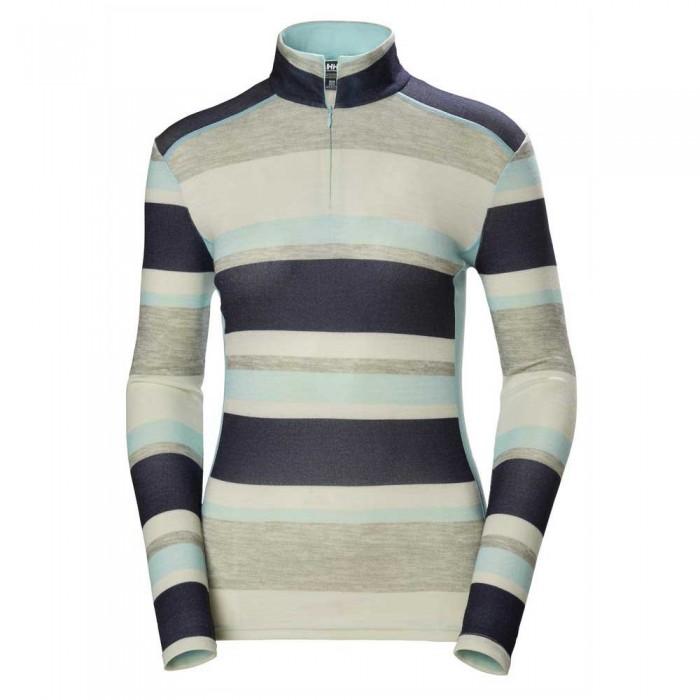 [해외]헬리한센 Merino Mid Graphic 137189043 Blue Tint Stripe