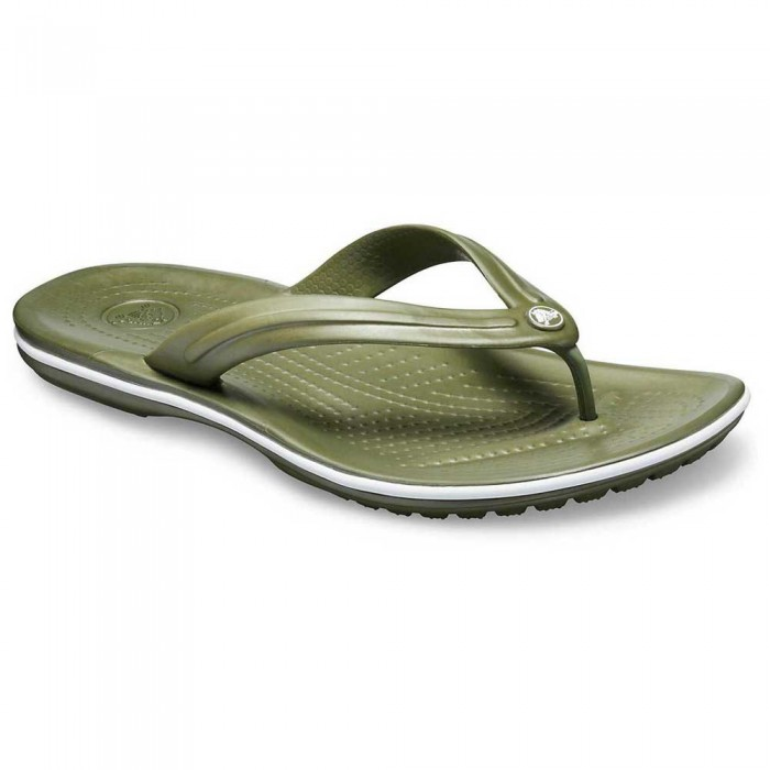 [해외]크록스 Crocband 8137091942 Army Green / White