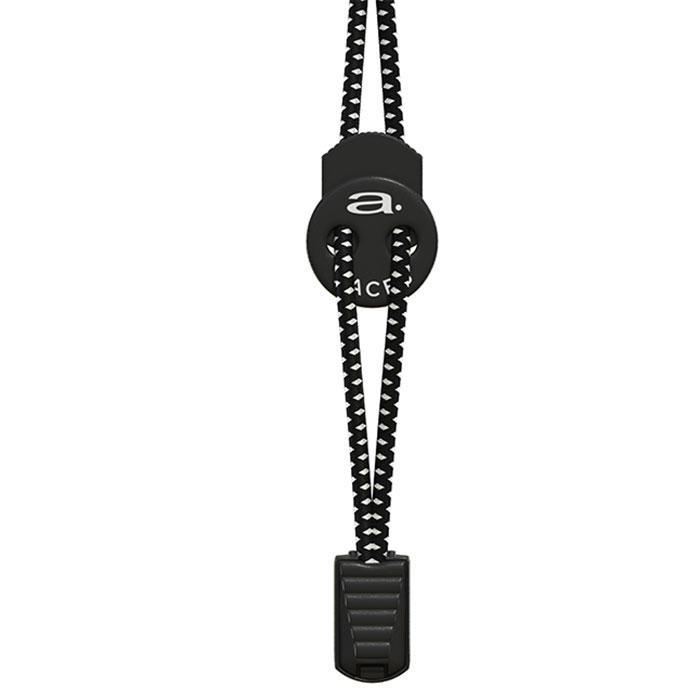 [해외]아쿠아맨 A-Lace Elastic Shoelace Man6136764759 Black / White