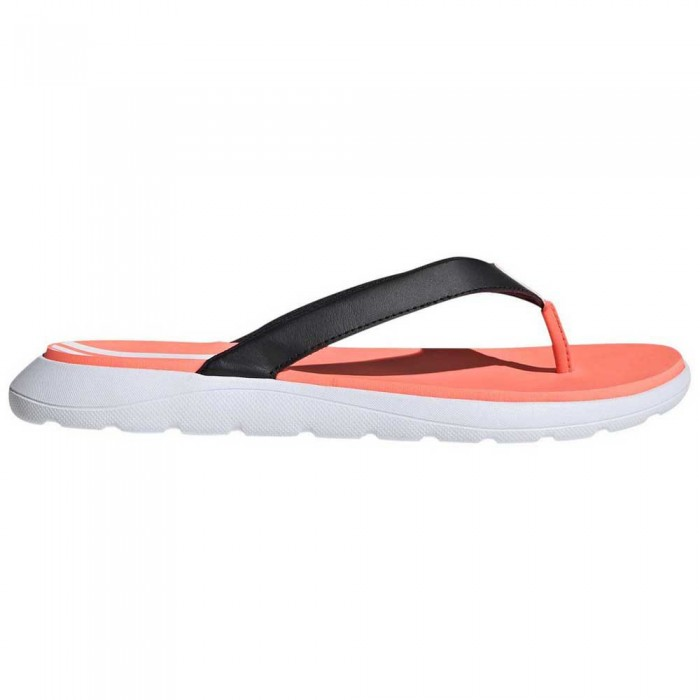 [해외]아디다스 Comfort Woman6137385528 Core Black / Footwear White / Signal Coral