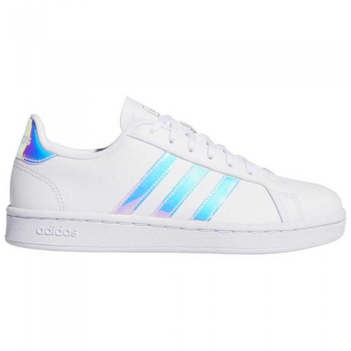 [해외]아디다스 Grand Court 12137385081 Footwear White / Silver Metal / Silver Metal