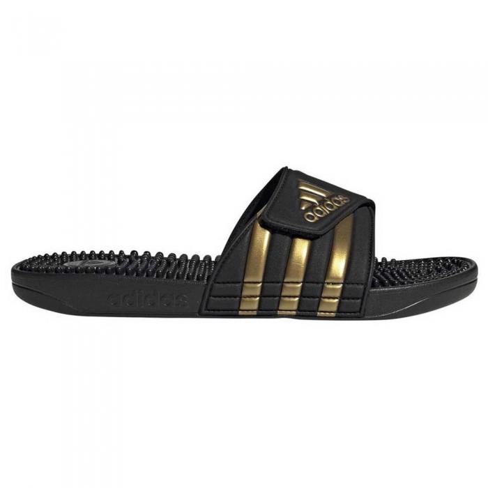 [해외]아디다스 Adissage Core Black / Gold Metal / Core Black