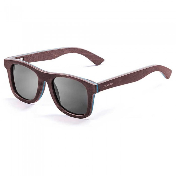 [해외]OCEAN SUNGLASSES Venice Beach Skate Wood Dark Brown