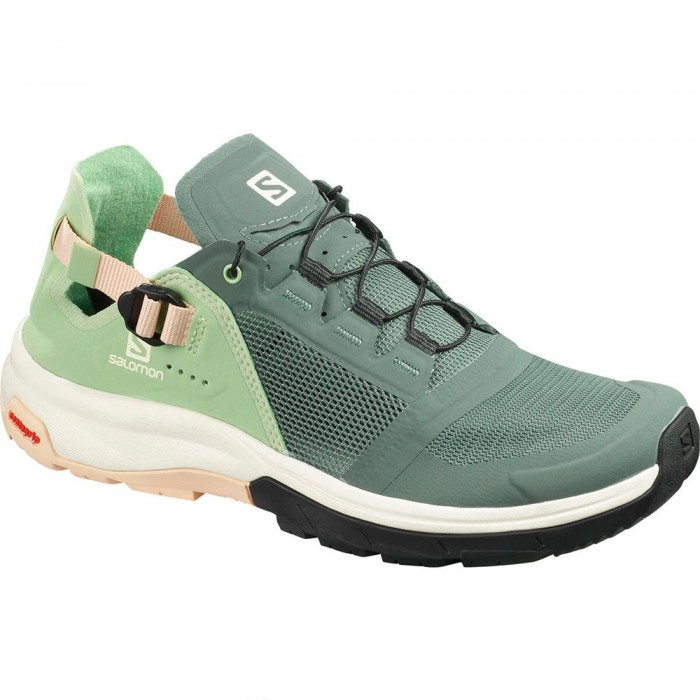 [해외]살로몬 Tech Amphib 4 Woman6137380680 Balsam Green / Spruce Green / Bellini