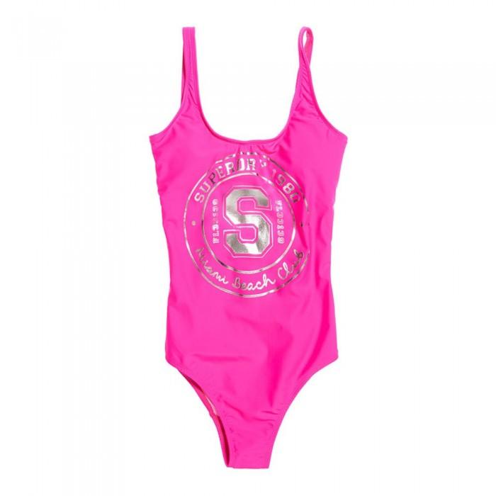 [해외]슈퍼드라이 Miami Beach Club Swimsuit Pop Pink