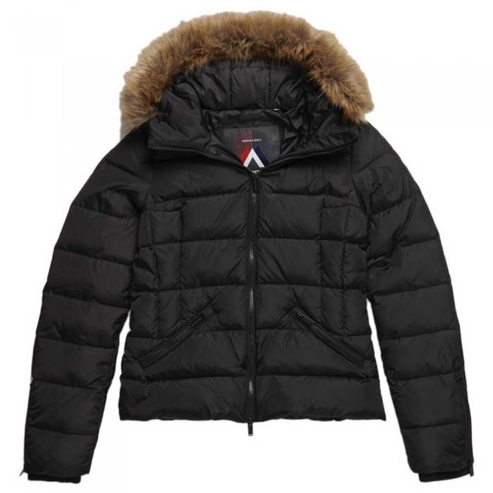 [해외]슈퍼드라이 프리미엄 다운 럭스 Faux Fur Black