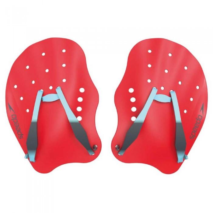 [해외]스피도 Tech Swimming Paddles 6137435858 Lava Red/Chill Blue/Grey