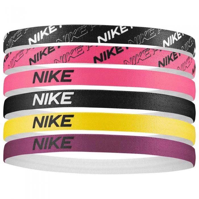 [해외]나이키 ACCESSORIES Headbands Assorted 6 Pack 6137428052 Black / Digital Pink