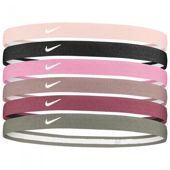 [해외]나이키 ACCESSORIES Swoosh Sport Headbands 2.0 6 Pack 6137428053 Barely Rose / Black