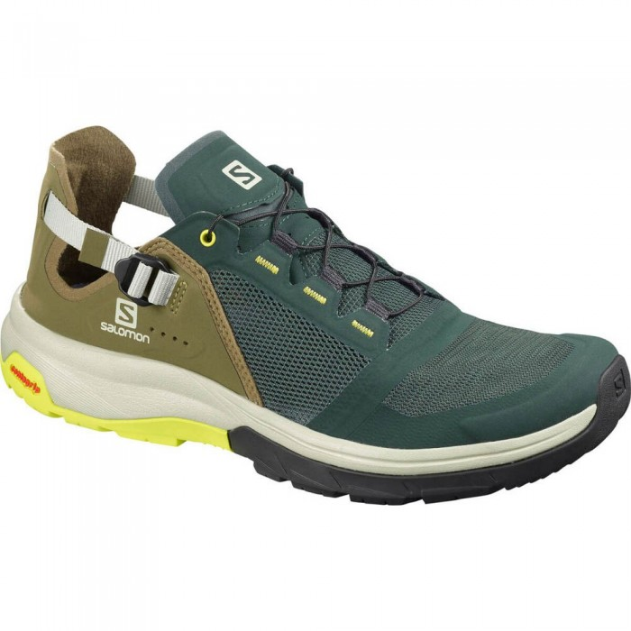 [해외]살로몬 Tech Amphib 4 Man6137380823 Green Gables / Burnt Olive / Evening Pr