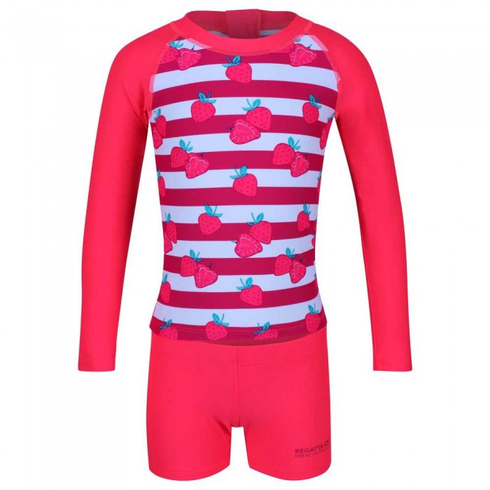 [해외]레가타 Valo Rash Suit Neon Pink Strawberry