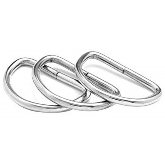 [해외]시갈섭 Weld Stainless Steel Ring D Shaped 50x30 10136455560