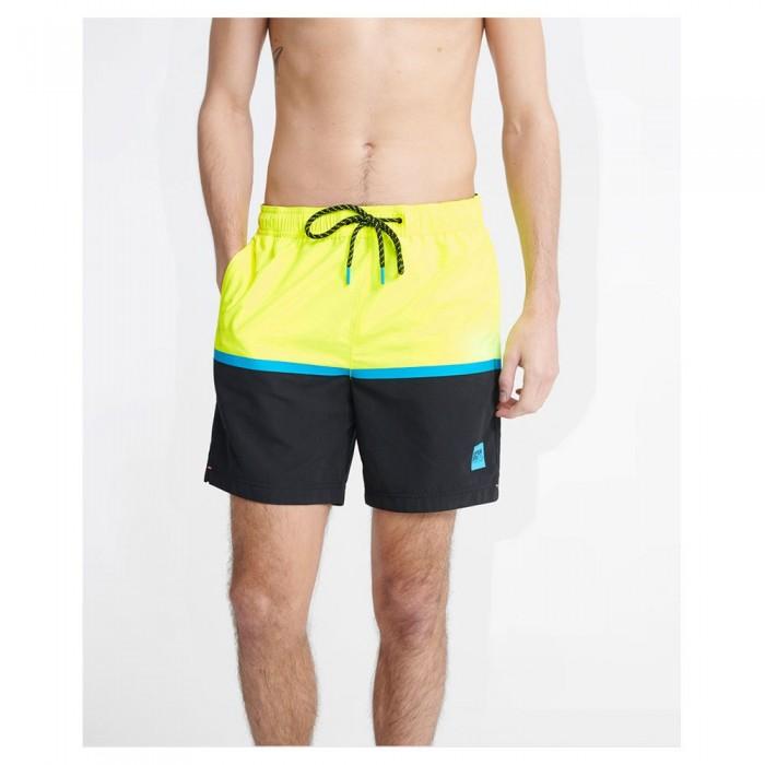 [해외]슈퍼드라이 컬러 블록 Neon Yellow