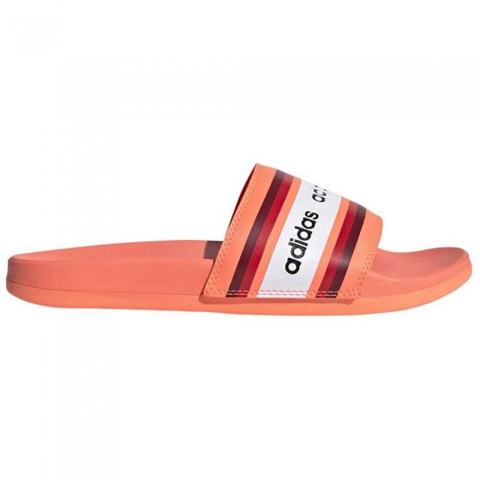 [해외]아디다스 아딜렛 Comfort Signal Coral / Collegiate Burgundy / Footwear White