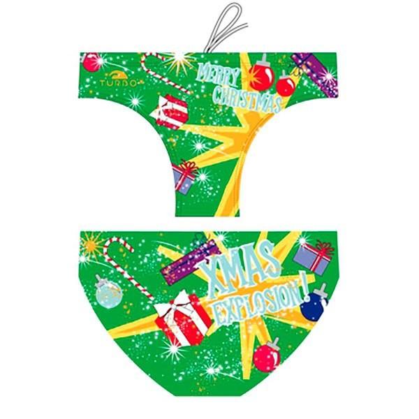 [해외]터보 Christmas Explotion 워터폴로 Suit Green