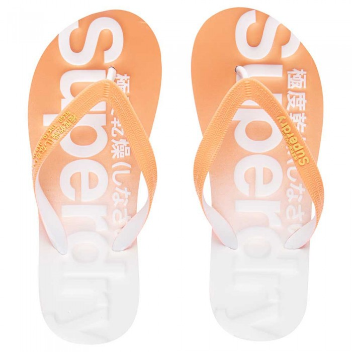 [해외]슈퍼드라이 슈퍼dry 페이드d Flip Flop Fluro Coral / Optic / Fluro Yellow