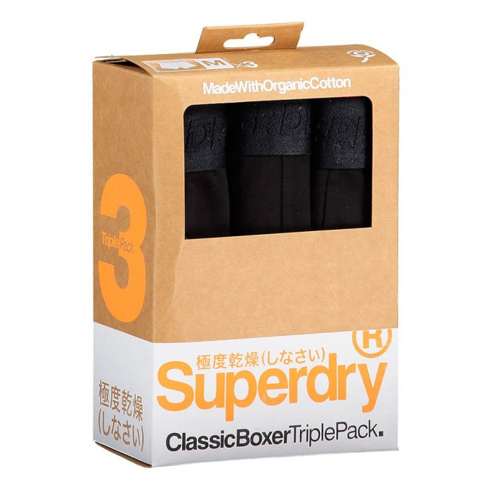 [해외]슈퍼드라이 Classic 복서 3 팩 Black Multipack