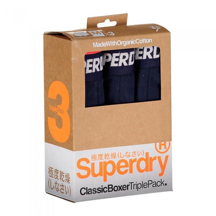 [해외]슈퍼드라이 Classic 복서 3 팩 Navy Multipack