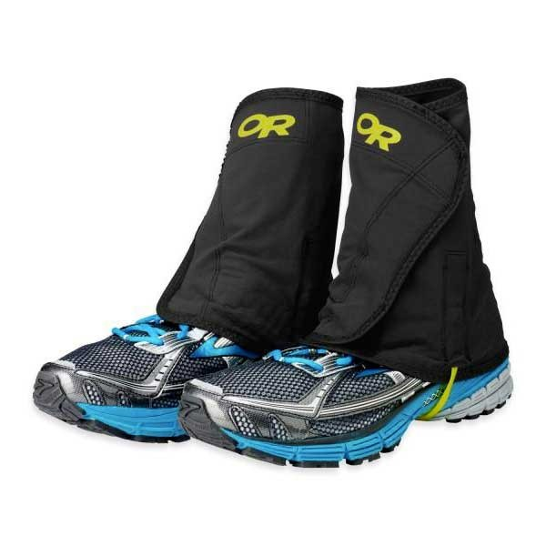 [해외]아웃도어 리서치 Wrapid Gaiters 6598206 Black / Lemongrass