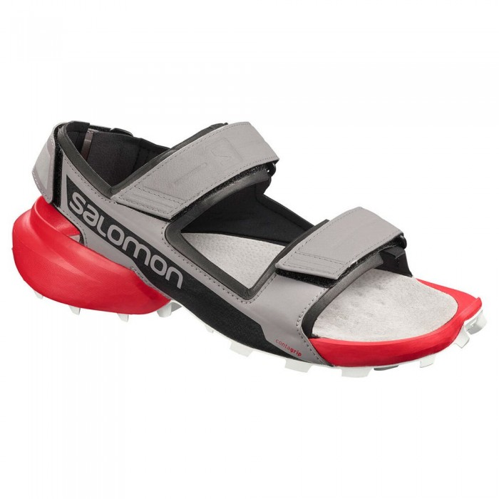 [해외]살로몬 Speedcross Sandal Man6137380859 Alloy / Black / High Risk Red