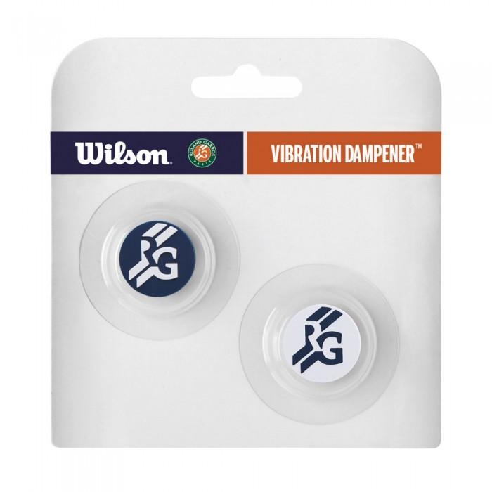 [해외]윌슨 Rol앤드 Garros Vibration Dampener 2 Units Navy / white