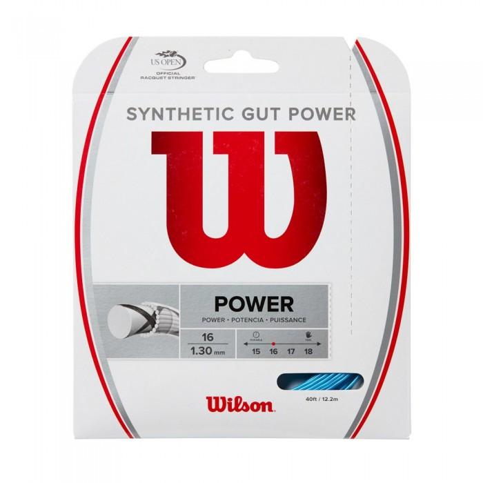 [해외]윌슨 Synthetic Gut Power 12.2 m Bright Blue