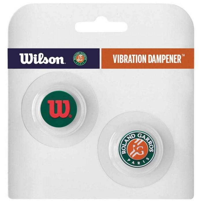 [해외]윌슨 Rol앤드 Garros Vibration Dampener 2 Units Green / Orange / White