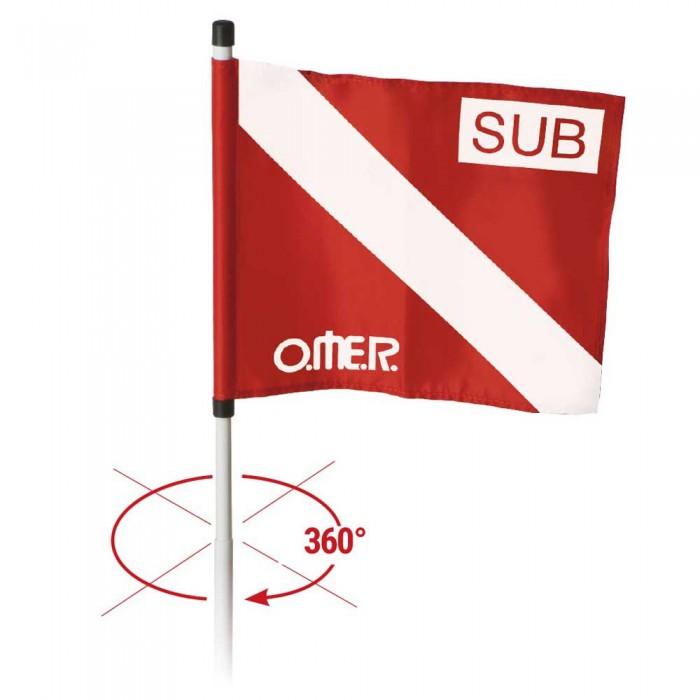 [해외]OMER Rotating Flag Red / White