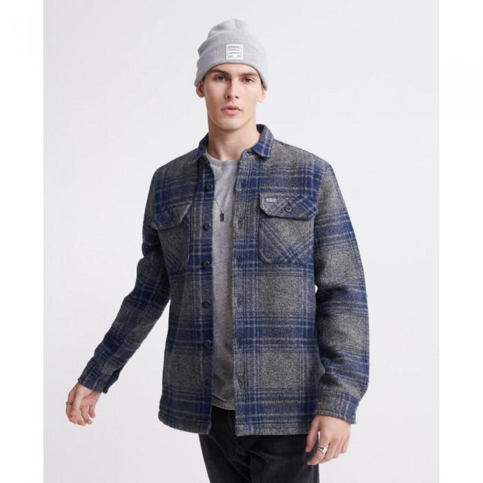 [해외]슈퍼드라이 Miller Flannel Grey Check