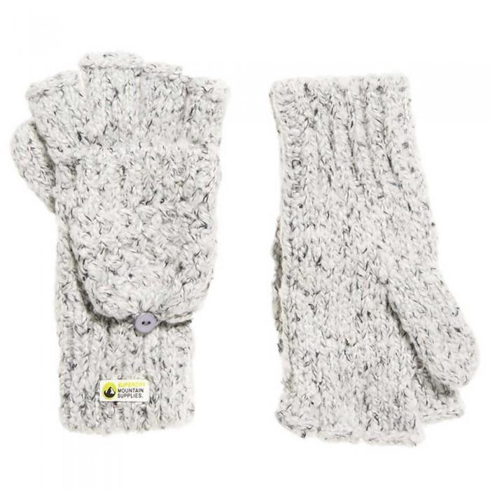 [해외]슈퍼드라이 Clarrie 스티치 Glove Grey Twist