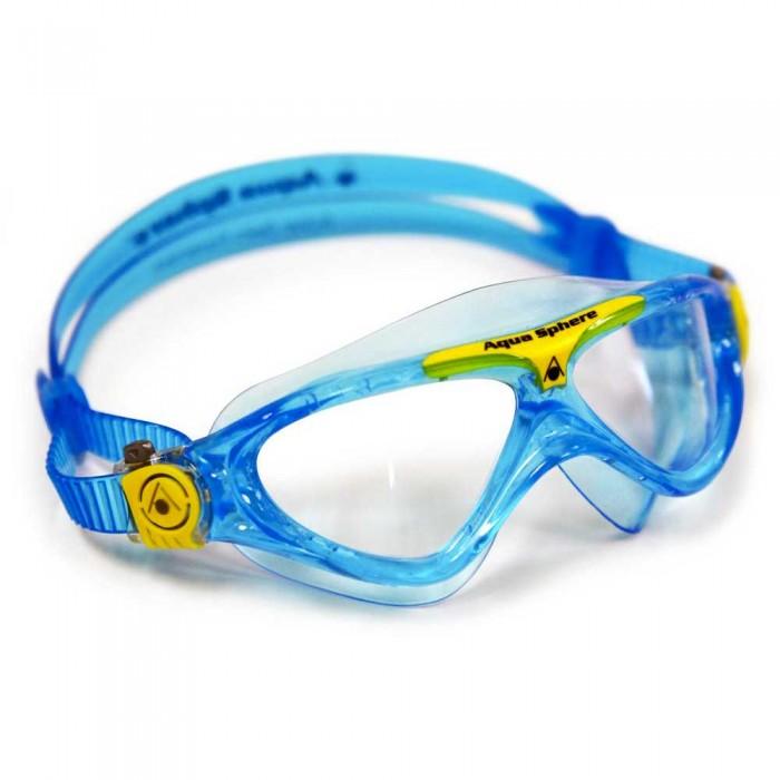 [해외]아쿠아스피어 Vista Junior Aqua / Yellow Transparent