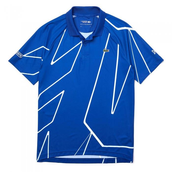 [해외]라코스테 스포츠 X 노vak Djokovic 프린티드 Breathable Blue / White
