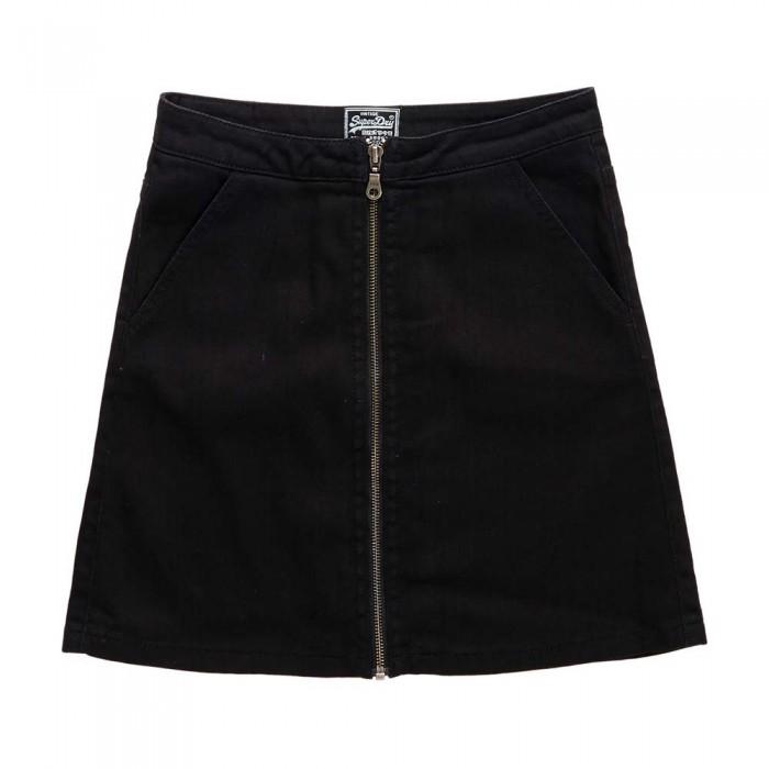[해외]슈퍼드라이 Kim 집pered 미니 Skirt Black