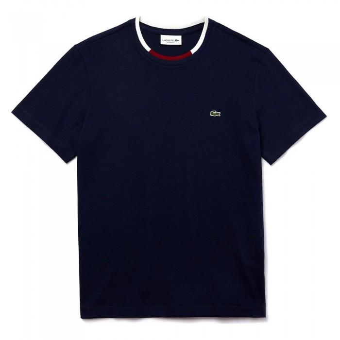 [해외]라코스테 Contrast 크루 넥 Navy Blue / White / Bordeaux