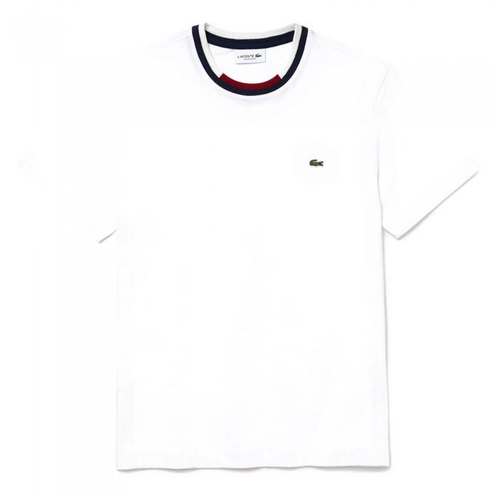 [해외]라코스테 Contrast 크루 넥 White / Navy Blue / White / Bordeaux