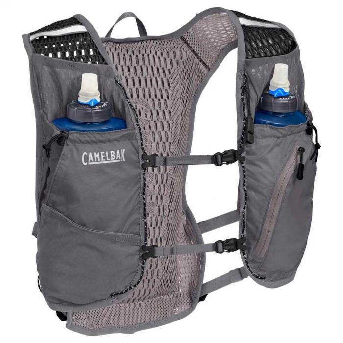 [해외]카멜백 Zephyr 10L With 2 Quick Stow Flask 6137319026 Castlerock Grey / Black