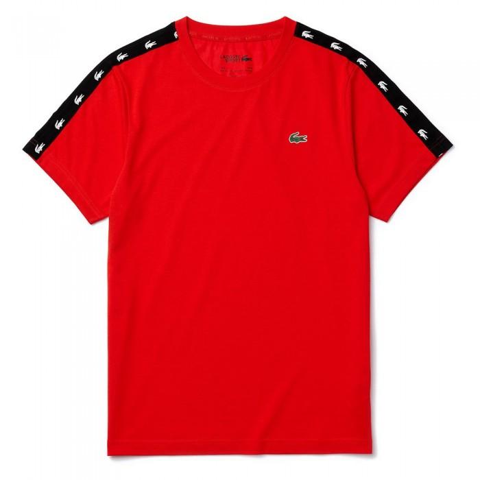 [해외]라코스테 스포츠 Crocodile 스트라이프d Breathable Piqu? Red / Black