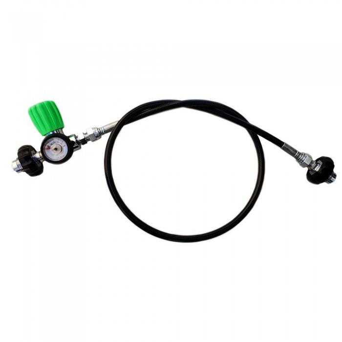 [해외]METALSUB Nitrox Equalizer DIN 200/300 With Manometer 10137502766 Black / Green