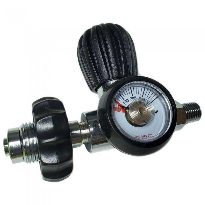 [해외]METALSUB Connector DIN 200/300 1/4´´ BSP With Purge And Gauge 10137516356 Black / Steel