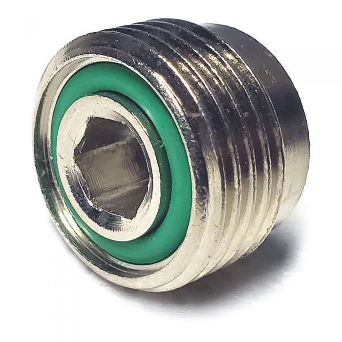 [해외]METALSUB DIN Adapter for Nitrox 10137502764 Silver / Green