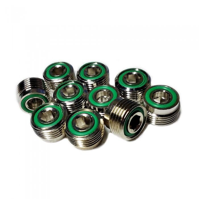 [해외]METALSUB DIN Adapter for Nitrox 10 Units 10137502765 Silver / Green