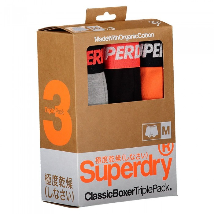 [해외]슈퍼드라이 Classic 복서 3 팩 Orange Multipack