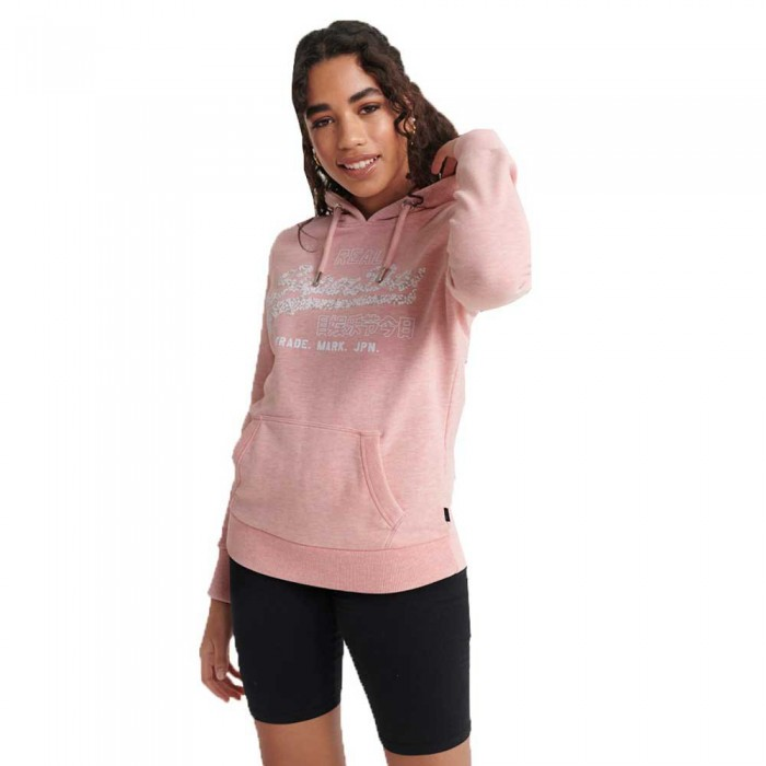 [해외]슈퍼드라이 빈티지 로고 플로럴 인필 Soft Pink Marl