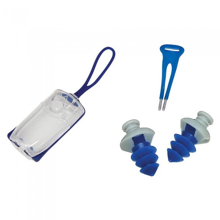 [해외]아쿠아스피어 Nose Clip+Ear Plugs 6137492370 Navy Blue / Grey