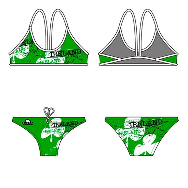 [해외]터보 Irel앤드 Bikini 씬 스트랩 Green/White