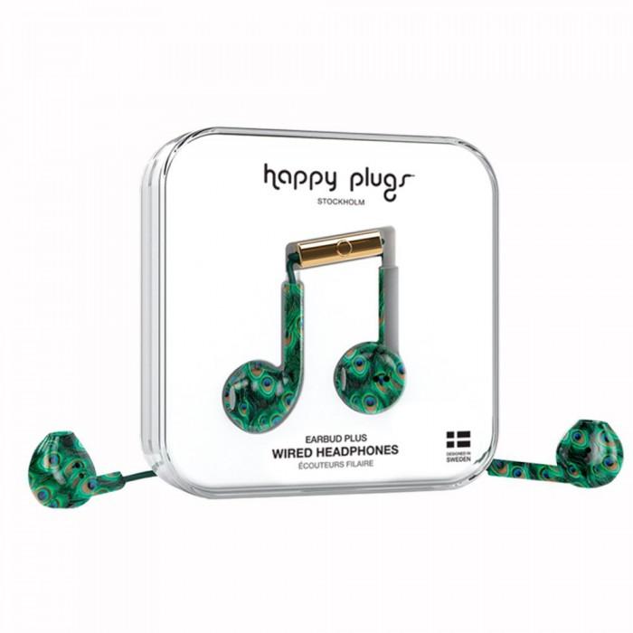 [해외]HAPPY PLUGS Earbud Plus Wired Peacock