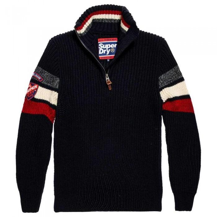 [해외]슈퍼드라이 Ski Dog Henley Dark Navy Twist / Red / Off Whte / Graphite